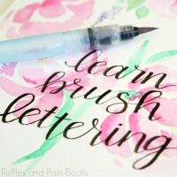 How to Learn Brush Calligraphy and Brush Lettering