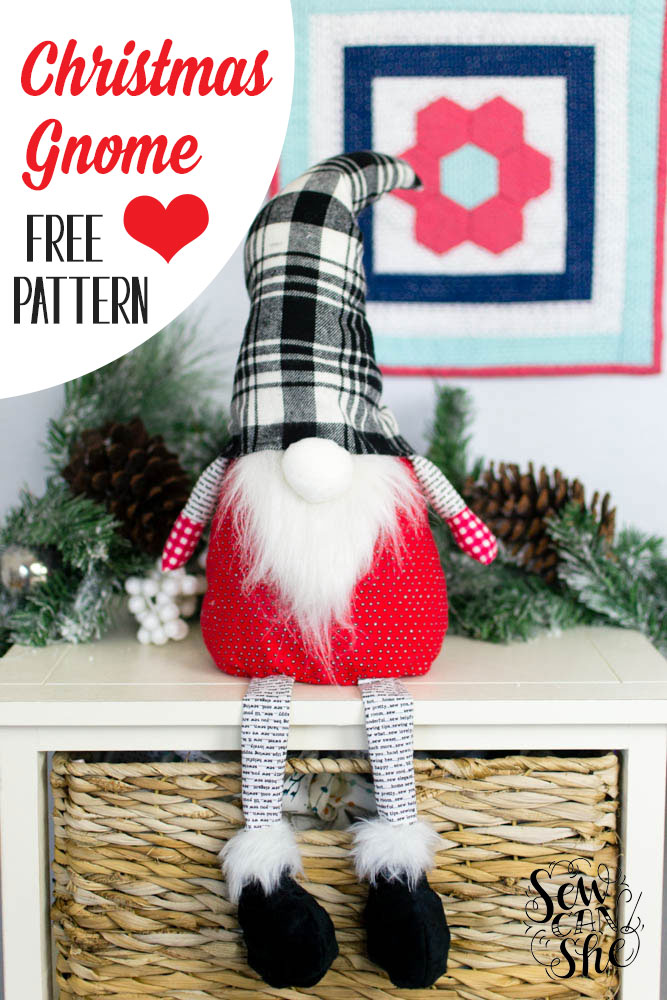 Christmas Gnome - free sewing pattern