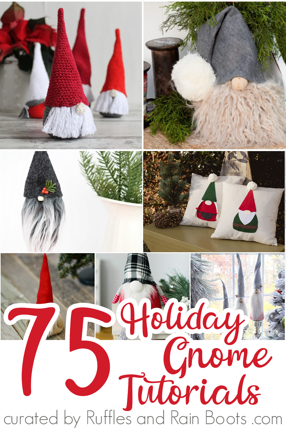easy tutorials for holiday gnomes for gifts