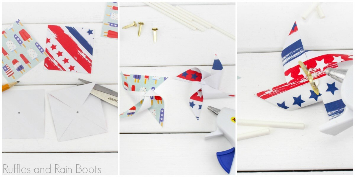 photo tutorial for how to make pinwheel cupcakes for a party