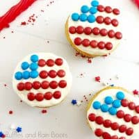 Candy Flag Cupcakes Recipe Perfect for 4th of July