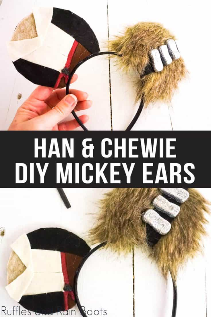 If you love Han Solo and Chewbacca as a team, you're going to love making these Star Wars Mickey ears.