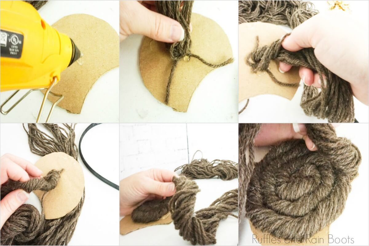 how to gather and twist leia braids onto mickey mouse ear template