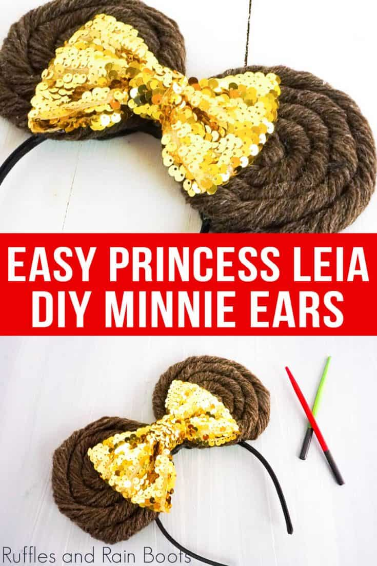 We're making our own no-sew Princess Leia Minnie Mouse ears today. You just need a few supplies and a little time, so let's craft together.