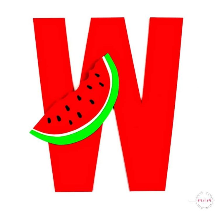 W is for Watermelon Alphabet Craft With Free Printables