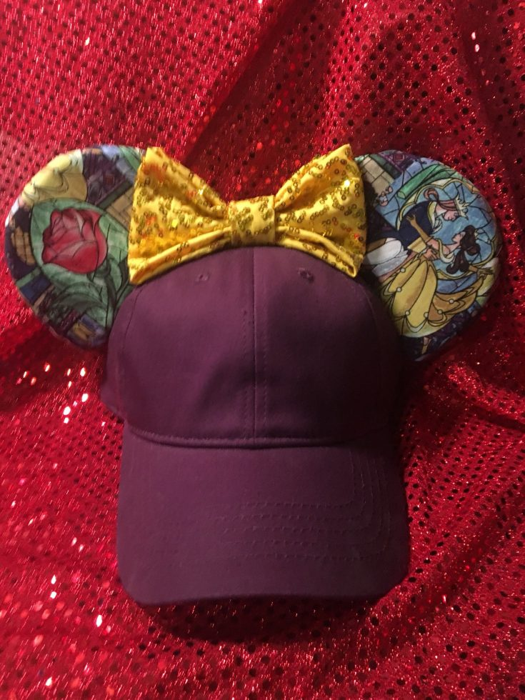 Beauty and the Beast Inspired Stained Glass Mouse Ear Hat