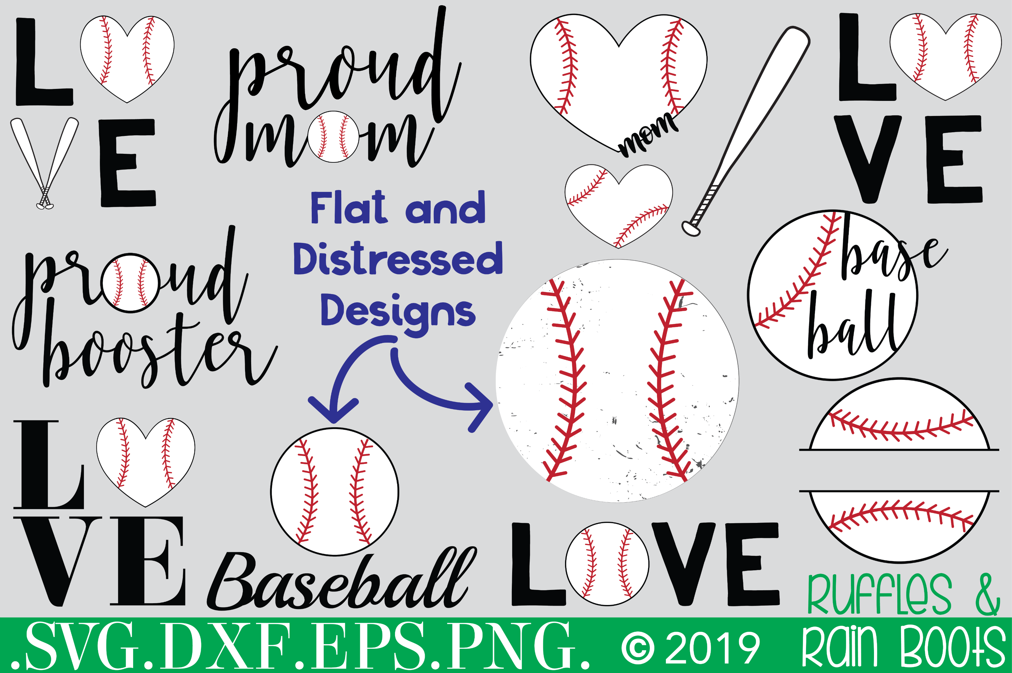 baseball SVG bundle with SVG PNG DXF cut files