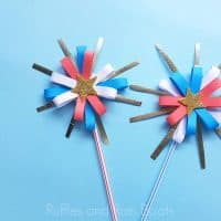 These Paper Fireworks for Perfect for Kids Who Get Scared