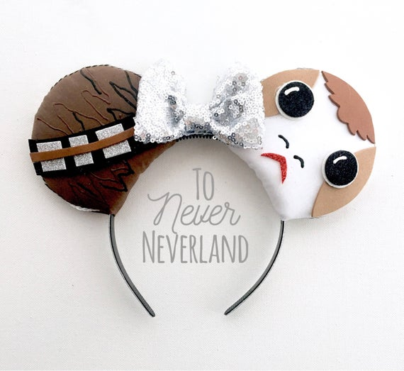 Chewbacca and Porg Mickey Ears