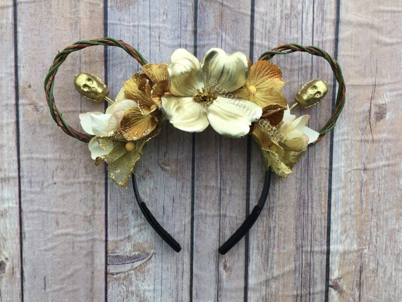C-3PO Inspired Floral Mickey Ears