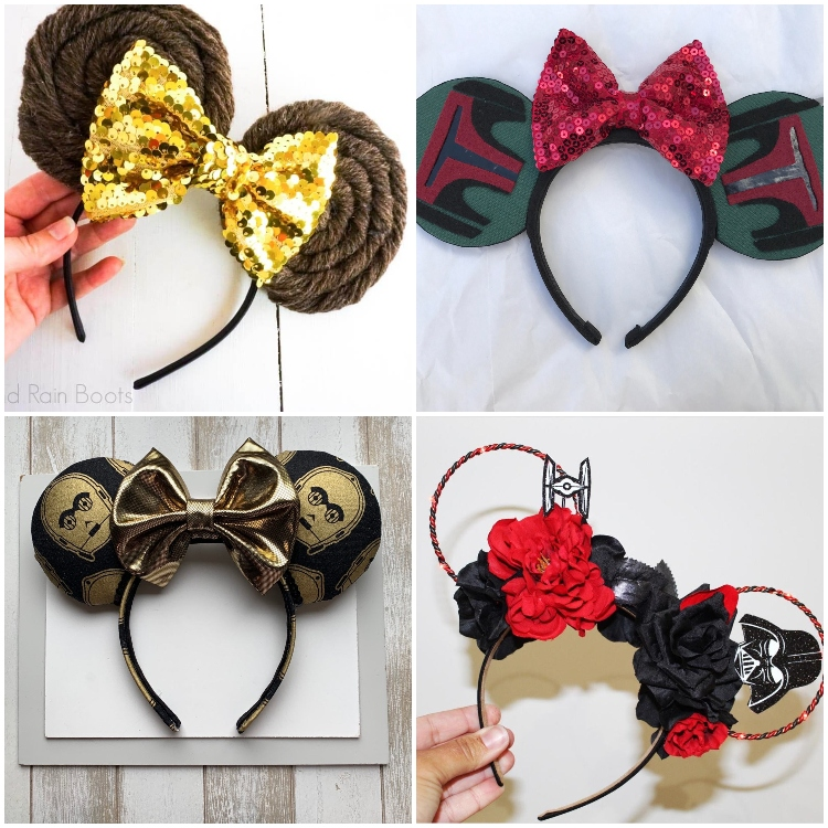 Beautiful Star Wars Mickey Ears that are Out of this Galaxy