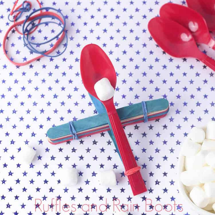This Marshmallow Catapult is a Fun STEM Activity for Kids