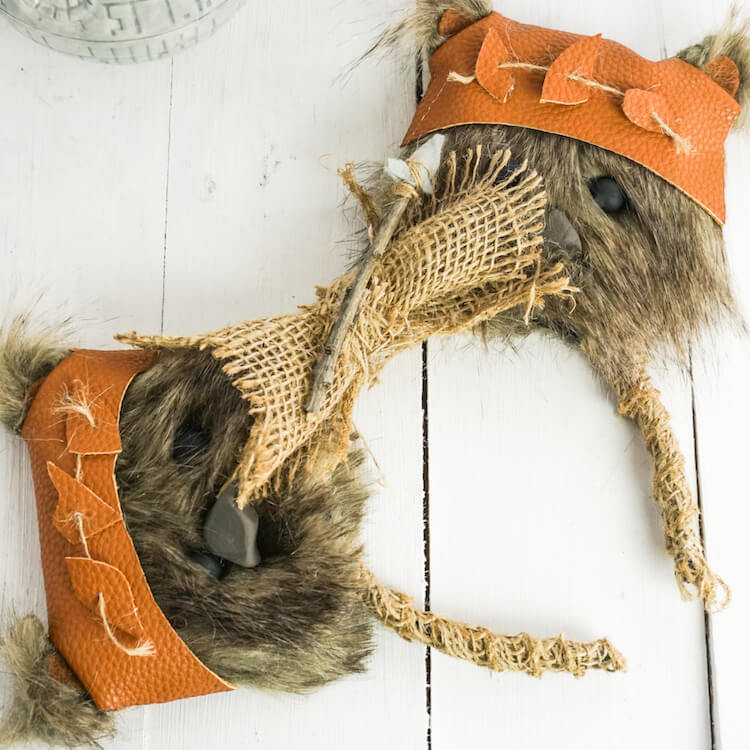 Ridiculously Cute No-Sew Ewok Minnie Ears for Star Wars Fans