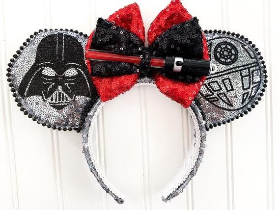 Light Up Star Wars Darth Vader Minnie Mouse Ears