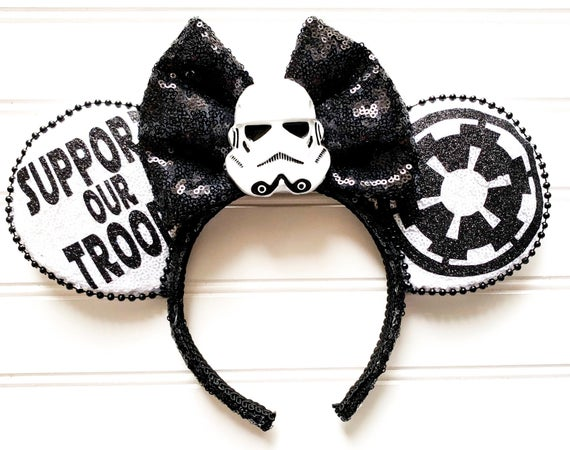 Light Up Star Wars Storm Trooper Minnie Mouse Ears