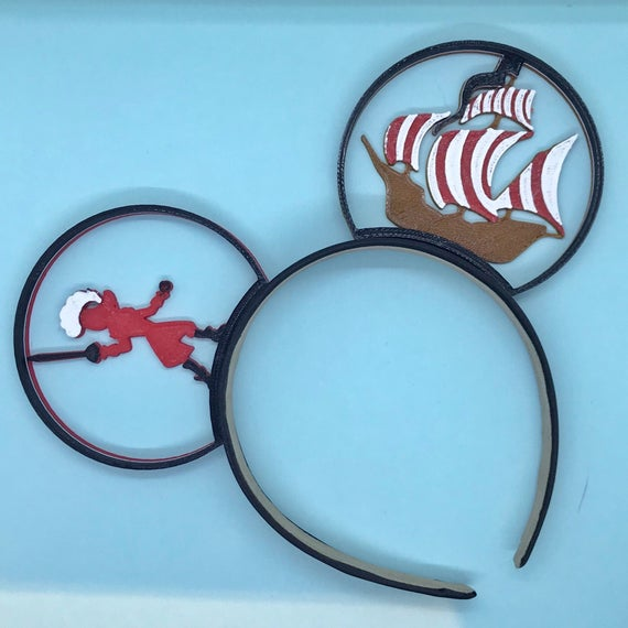 Captain Hook and Pirate Ship Mouse Ears