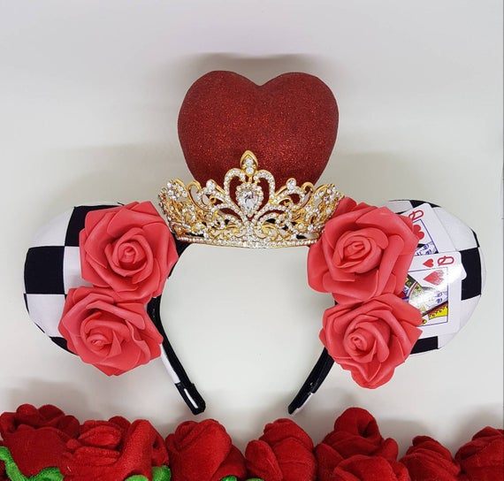 Queen of Hearts Inspired Mouse Ears Headband
