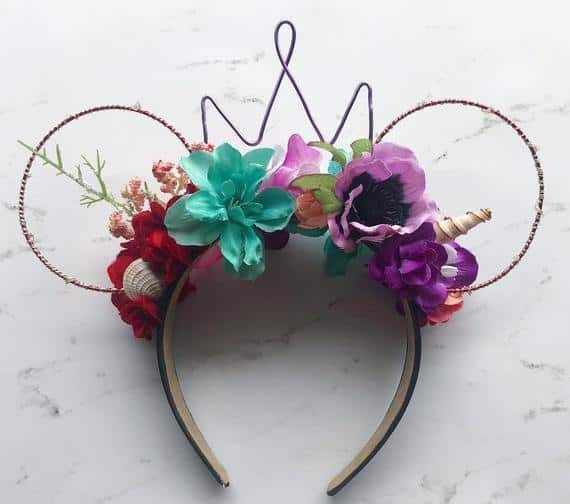 Little Mermaid inspired Wire Mouse Ears