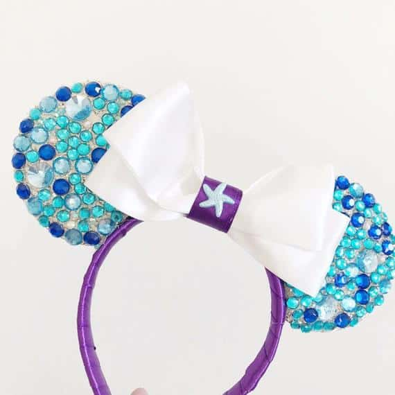 Gem Encrusted Ariel Mickey Mouse Ears