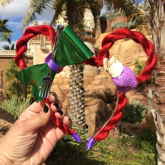 Ariel Braid  Mickey Ears