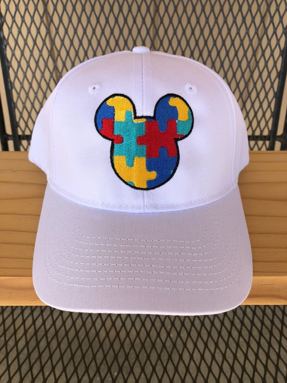 Autism Awareness Mickey Mouse Hat
