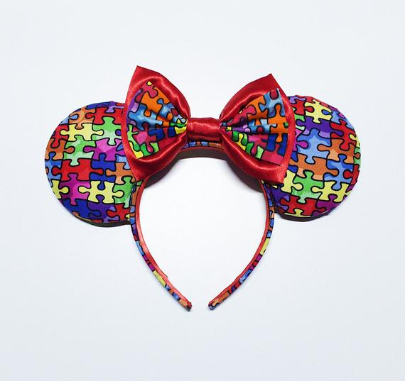 Autism Awareness Mickey Ears for Disney