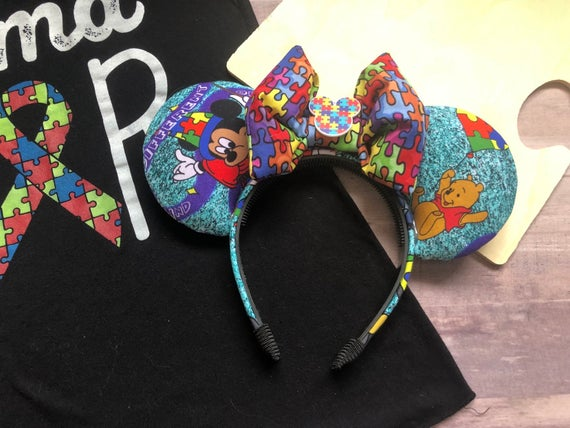 Autism Awareness Inspired Mouse Ears