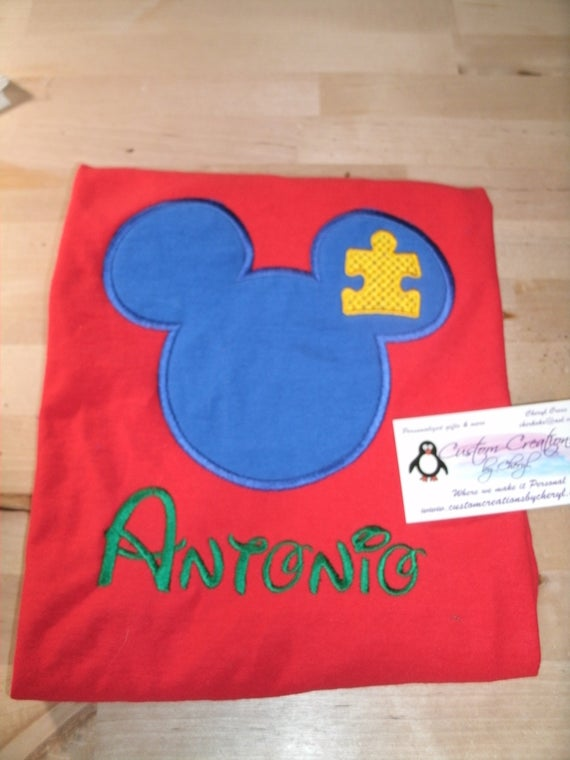 Personalized Mickey Shirt for Autism Awareness