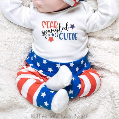Free Star Spangled Cutie Patriotic SVG for Cricut