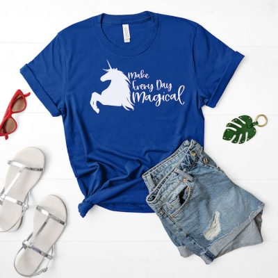 Use This Make Everyday Magical Unicorn SVG to Make the Best Shirt!