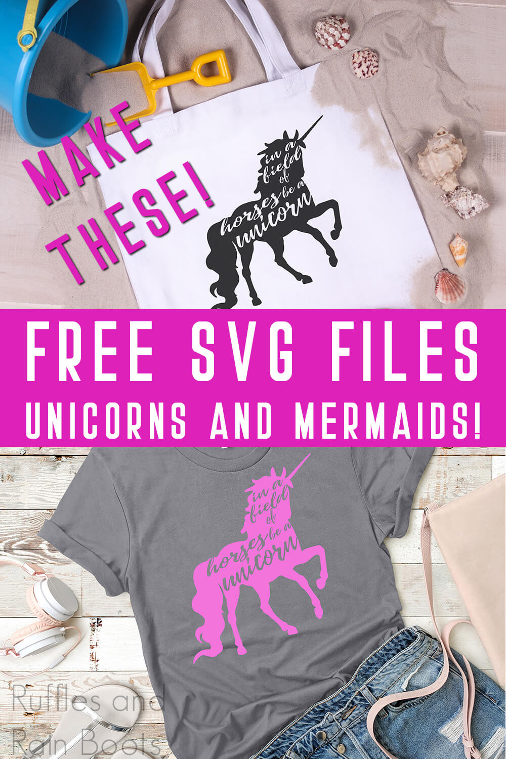 This Free In a Field of Horses Be a Unicorn SVG Makes Such