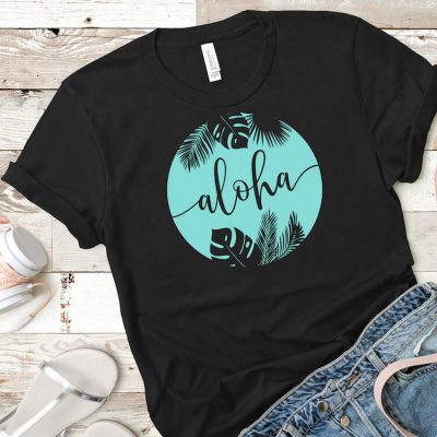 This Free Aloha Summer SVG Makes an Awesome Summer Shirt!