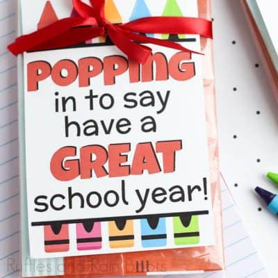 This Colorful Popcorn Gift Tag Printable Makes Quick Work of Back to School