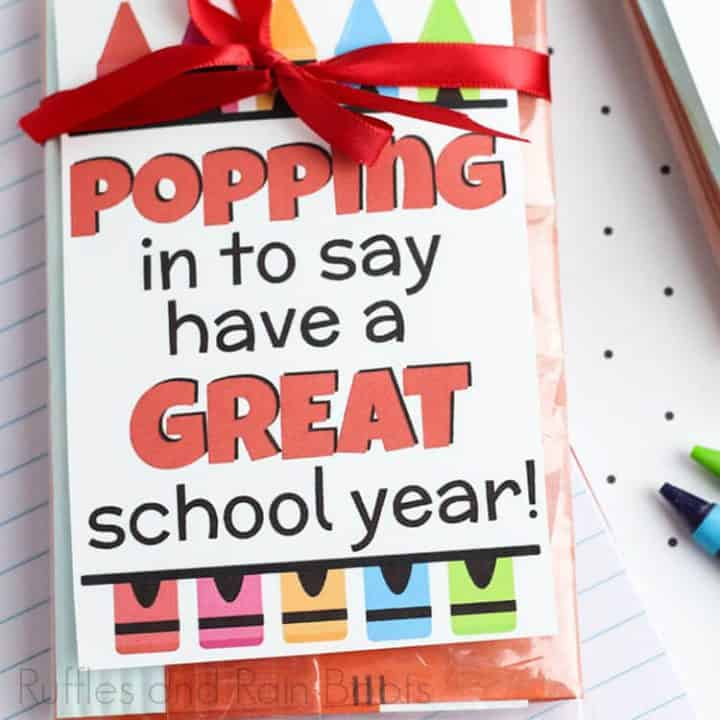 This is a picture of Popcorn Teacher Appreciation Printable regarding homemade