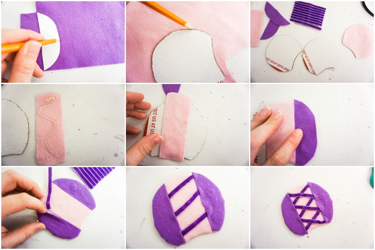 photo collage of how to make no-sew tangled mickey ears for disney