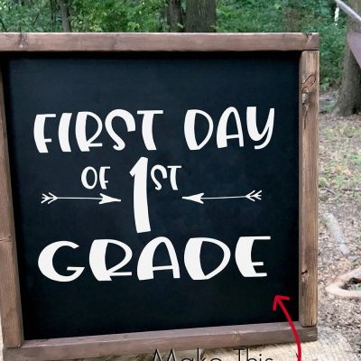 Use this Free Back to School SVG Collection to Make a Chalkboard