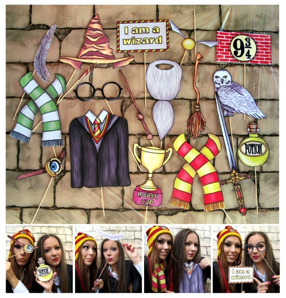 Wizarding World Party Photo Booth Props