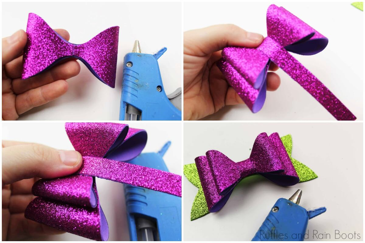 make a no-sew bow for Minnie ears