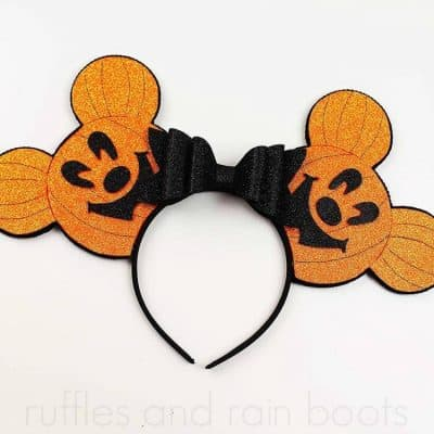 Foam Mickey Pumpkin Head Ears for Halloween