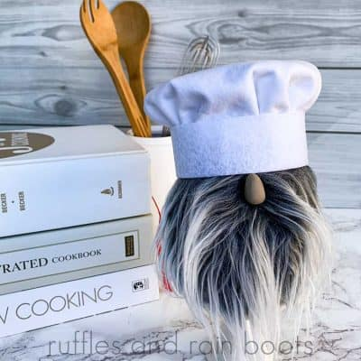 DIY Chef Gnome with the Cutest Toque!