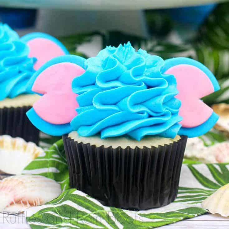 Stitch Mouse Ear Cupcakes