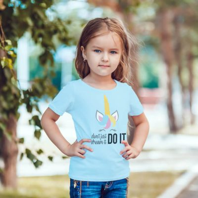 This Don't Just Dream It Do It Unicorn SVG Makes Adorable Kid Shirts!