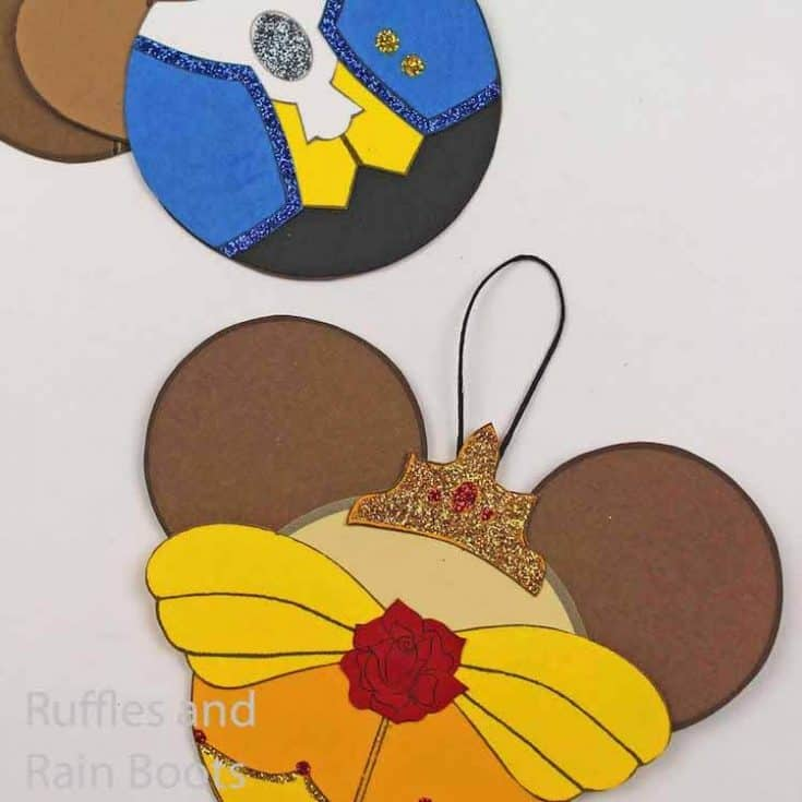 Belle and the Beast Ornaments