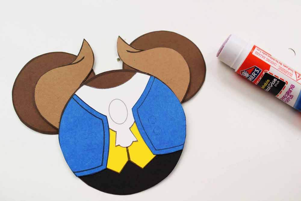 how to make beauty and the beast mickey ornaments how to glue on the vest for the beast ornament