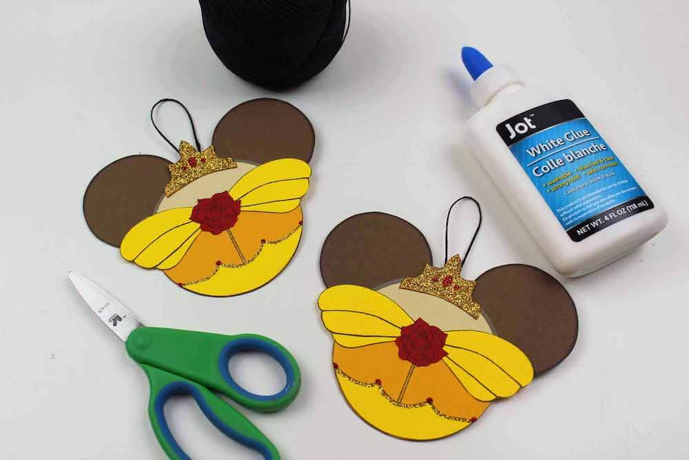 how to make ornaments for beauty and the beast final step for belle ornaments