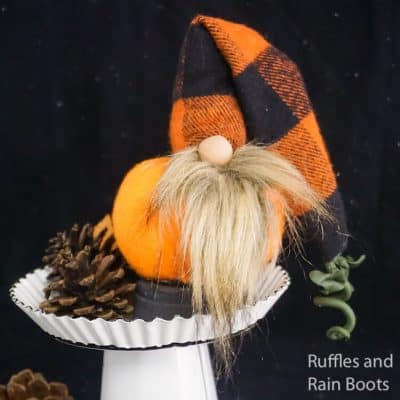 This Pumpkin Gnome is so Cute–I want to Make a Pie from Him!