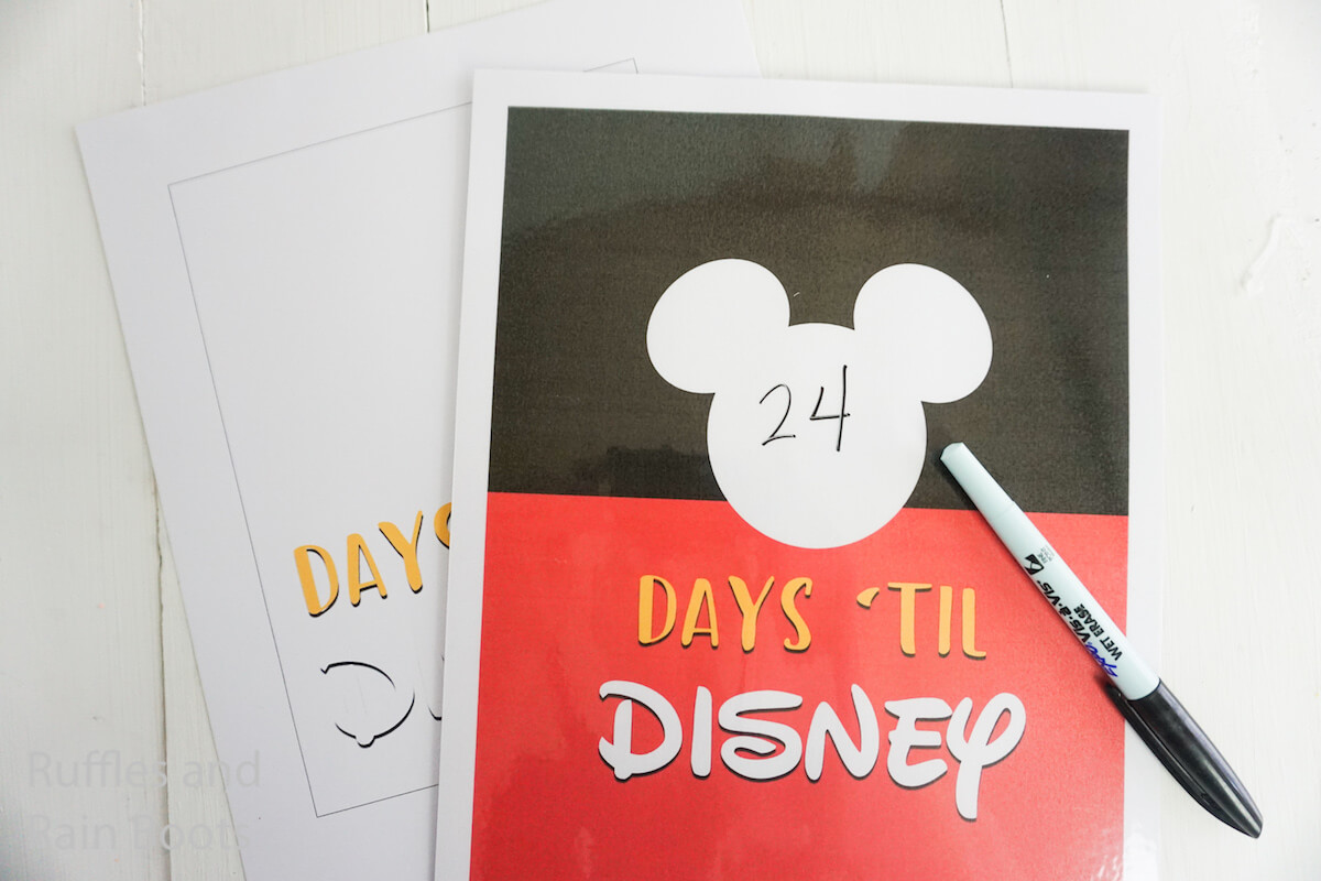 graphic relating to Disney Countdown Printable named This Disney Holiday Countdown Printable is Hence Exciting!