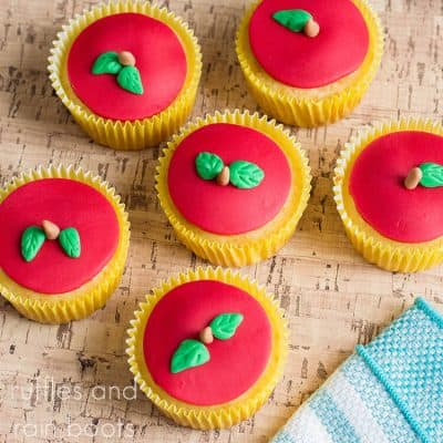 Make the Easiest Apple Cupcakes for Back to School or Fall!