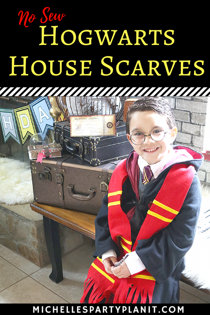 How to Make DIY Harry Potter House Scarves - NO SEW!