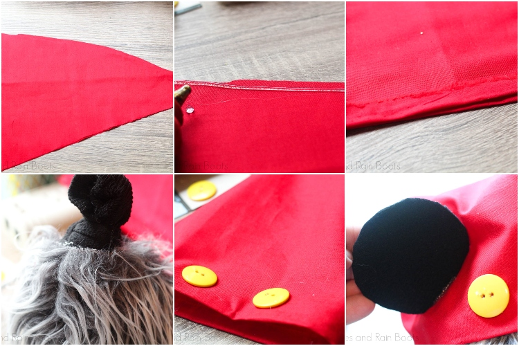 photo collage tutorial of how to make a disney countdown mickey gnome